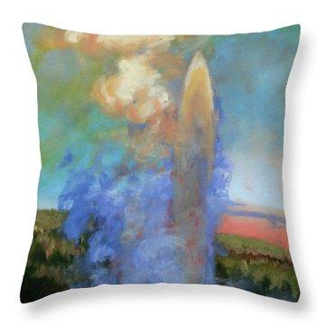 Faithful Throw Pillow by Carol Strickland