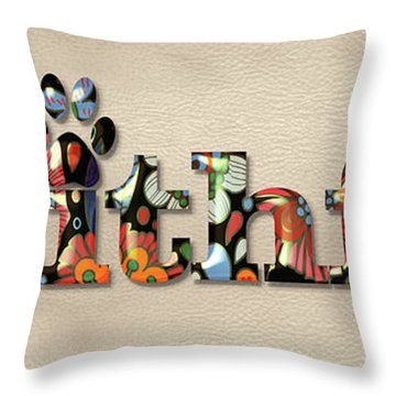 Faithful Flowers Throw Pillow