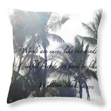 Faithful Friends Throw Pillow by Karon Melillo DeVega