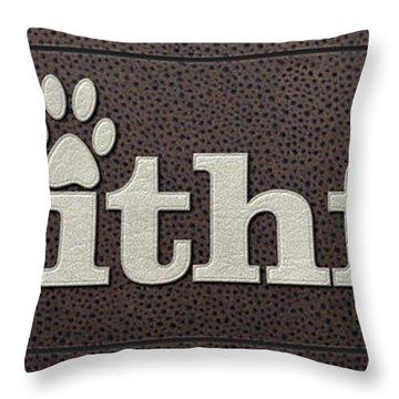 Faithful Leather On Leather Throw Pillow