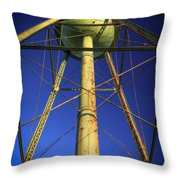 Throw Pillow featuring the photograph Faithful Mary Leila Cotton Mill Water Tower Art by Reid Callaway