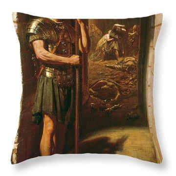 Faithful Unto Death Throw Pillow by Sir Edward John Poynter