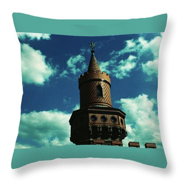 Fake German Castle Or Oberbaumbruecke Throw Pillow