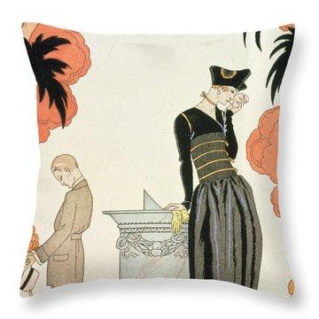 Falbalas Et Fanfreluches Throw Pillow