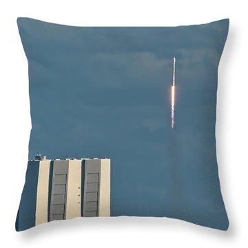 Falcon 9 Launch Throw Pillow