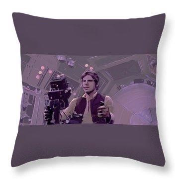 Falcon Gun Turret Throw Pillow