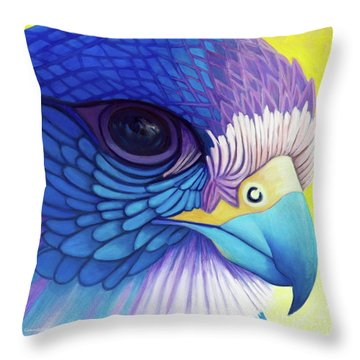 Falcon Medicine Throw Pillow