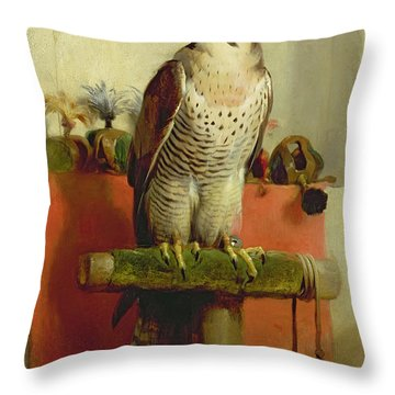 Falcon Throw Pillow by Sir Edwin Landseer