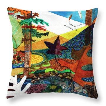 Fall Along The Patuxent Throw Pillow