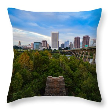 Fall Approaching In Richmond Throw Pillow