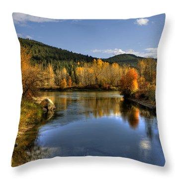 Fall At Blackbird Island Throw Pillow