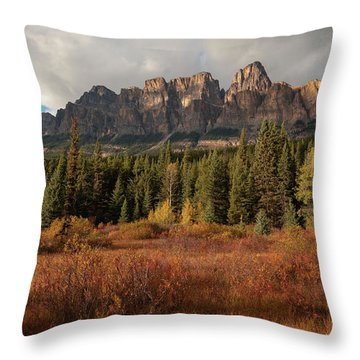Fall At Castle Mountain Throw Pillow