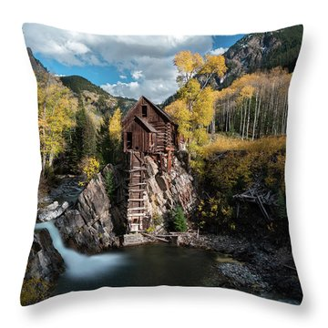 Fall At Crystal Mill Throw Pillow