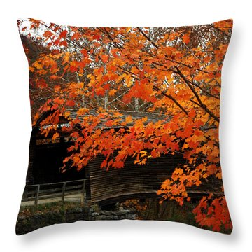 Fall At Humpback Bridge Throw Pillow