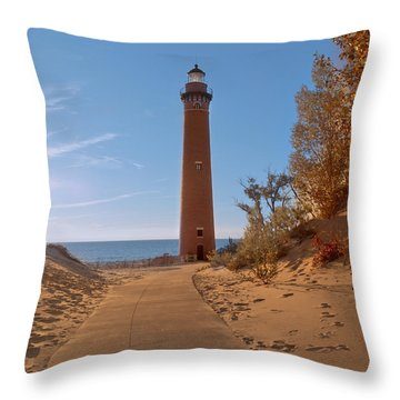 Fall At Little Point Sable Light Throw Pillow