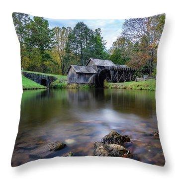 Fall At Mabry Mill Throw Pillow
