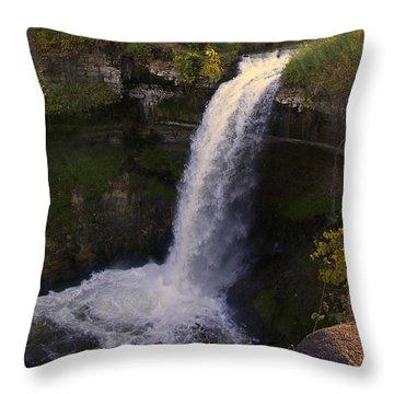 Fall At Minnehaha Falls Throw Pillow by Tom Reynen