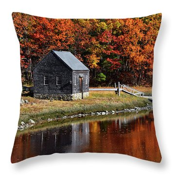 Fall At Rye Throw Pillow