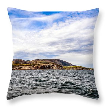 Throw Pillow featuring the photograph Fall At Somes Sound by Anthony Baatz