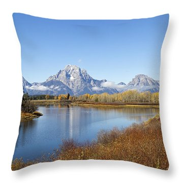 Fall At Teton -2 Throw Pillow by Shirley Mitchell