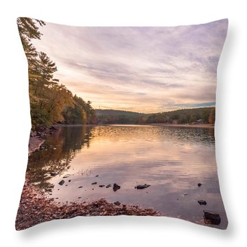 Fall At The Pond Throw Pillow