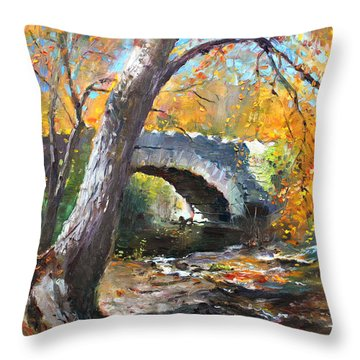 Fall At Three Sisters Islands Throw Pillow