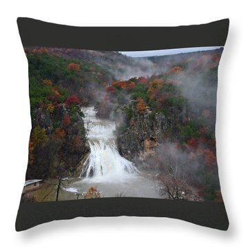Fall At Turner Falls Throw Pillow