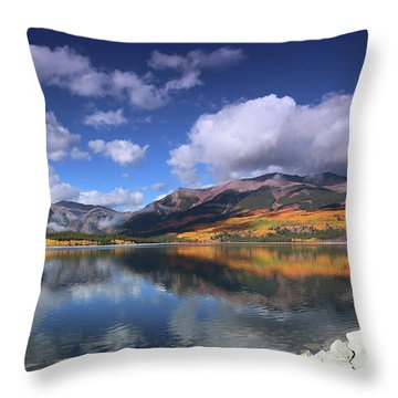 Fall At Twin Lakes Throw Pillow