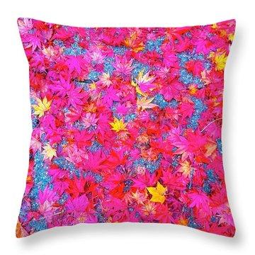 Fallen Color Throw Pillow
