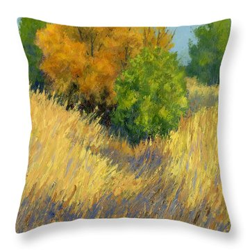 Fall Begins Throw Pillow