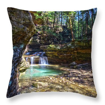 Fall Below Old Mans Cave Throw Pillow