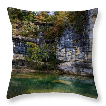 Fall Bluff At Ozark Campground Throw Pillow