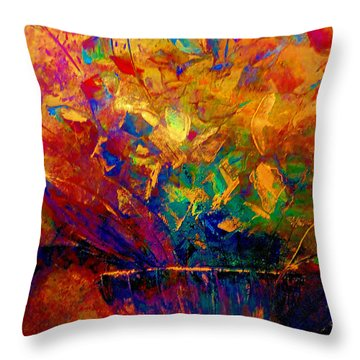 Fall Bouquet  Throw Pillow by Lisa Kaiser