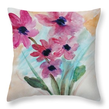 Throw Pillow featuring the digital art Fall Bunch by Trilby Cole