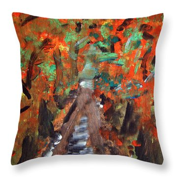 Fall By Colleen Ranney Throw Pillow