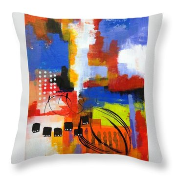 Day One...30 In 30 Challenge  Throw Pillow by Suzzanna Frank