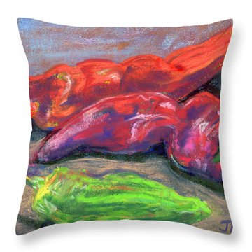 Fall Chiles Throw Pillow
