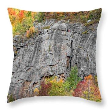 Fall Climbing Throw Pillow