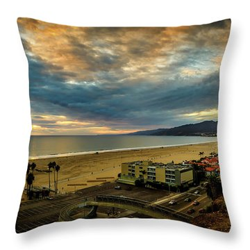 Fall Clouds Over The Bay Throw Pillow