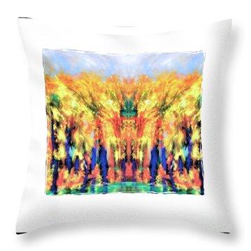 Fall Color Face Throw Pillow