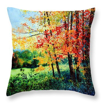 Fall Color Throw Pillow by Hanne Lore Koehler