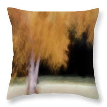 Fall Color With Painterly Effect Throw Pillow