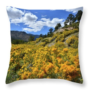 Fall Colors Come To Mt. Charleston Throw Pillow