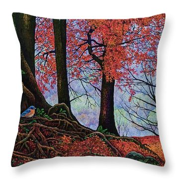 Fall Colors II Throw Pillow by Michael Frank