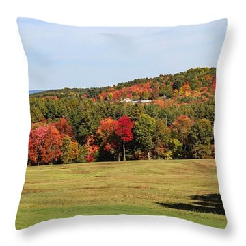 Fall Colors In Easthampton Throw Pillow