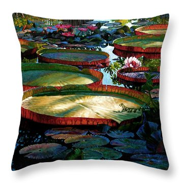 Fall Colors In The Morning Sun Throw Pillow by John Lautermilch