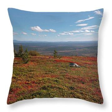 Katkatunturi Fall Colors Throw Pillow