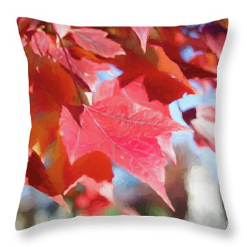 Fall Colors Oil Throw Pillow