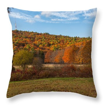 Fall Colors On Great Blue Hill Throw Pillow by Brian MacLean