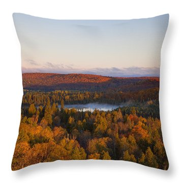Fall Colors Orberg Mountain North Shore Minnesota Throw Pillow